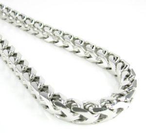 якорное плетение серебряной цепочки