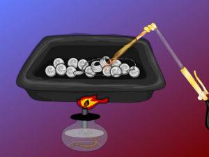 плавление серебра