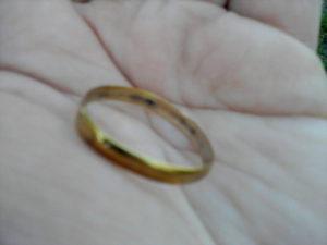 серебро желтеет