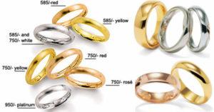 Желтое или белое золото будет стоить дороже